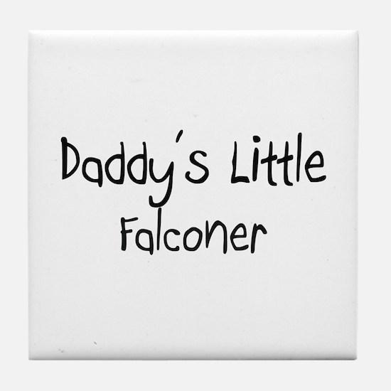 Daddy's Little Falconer Tile Coaster