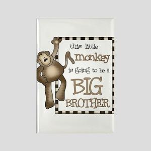 big brother t-shirt monkey Rectangle Magnet