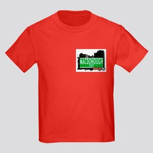 MACDONOUGH STREET, BROOKLYN, NYC Kids Dark T-Shirt