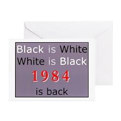 1984 Big Bro Propaganda lies on Greeting Cards (Pa