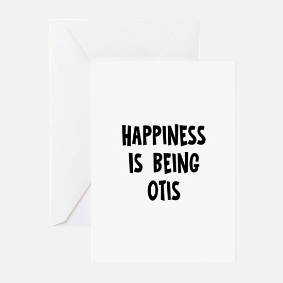 Happiness is being Otis Greeting Cards (Pk of 10)