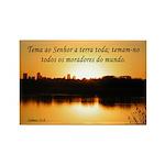 Salmos 33:8 (Por) Rectangle Magnet (10 pack)