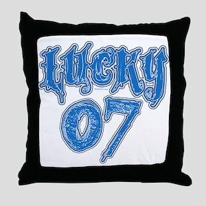 Lucky 07 Throw Pillow