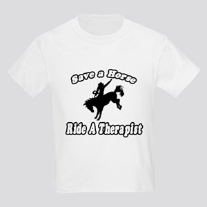 """Save Horse, Ride Therapist"" Kids Light T-Shirt"