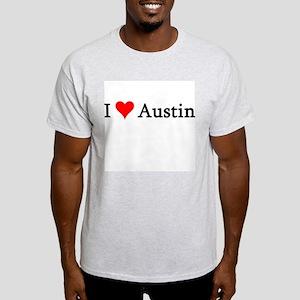 I Love Austin Ash Grey T-Shirt
