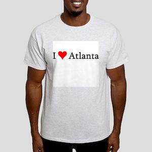 I Love Atlanta Ash Grey T-Shirt