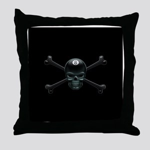 Pool Pirate III Throw Pillow