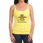 I Love Beavers Jr. Spaghetti Tank