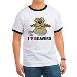 I Love Beavers Ringer T