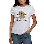 I Love Beavers Women's T-Shirt