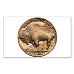 Nickel Buffalo Rectangle Sticker