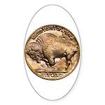 Nickel Buffalo Oval Sticker