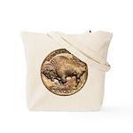 Nickel Buffalo Tote Bag