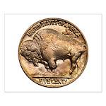 Nickel Buffalo Small Poster
