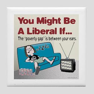 Liberal Poverty Gap Tile Coaster