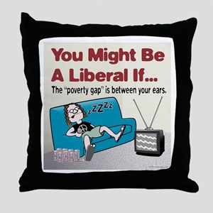 Liberal Poverty Gap Throw Pillow