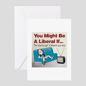 Liberal Poverty Gap Greeting Card