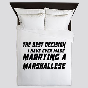 Marrying Marshallese Country Queen Duvet