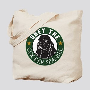 Obey The Cocker Spaniel Tote Bag