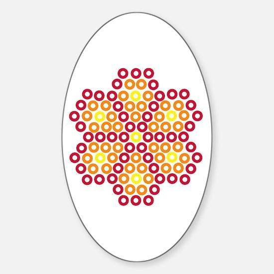 Unique Huichol Sticker (Oval)