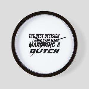Marrying Dutch Country Wall Clock