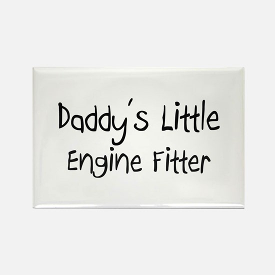 Daddy's Little Engine Fitter Rectangle Magnet