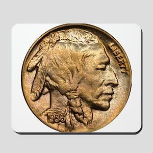 Nickel Indian Head Mousepad