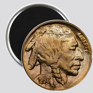 Nickel Indian Head Magnet