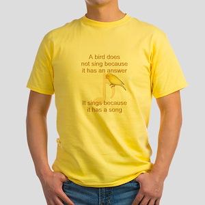 Custom Canary Yellow T-Shirt
