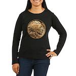 Nickel Indian Head Women's Long Sleeve Dark T-Shir