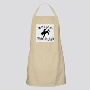 """Save Horse, Ride Anthropologist"" BBQ Apron"