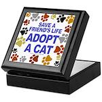 Save life, cat. Keepsake Box