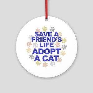 Save life, cat. Keepsake (Round)