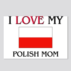 I Love My Polish Mom Postcards (Package of 8)