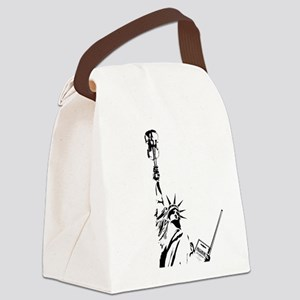Violin Statue Paganini Canvas Lunch Bag