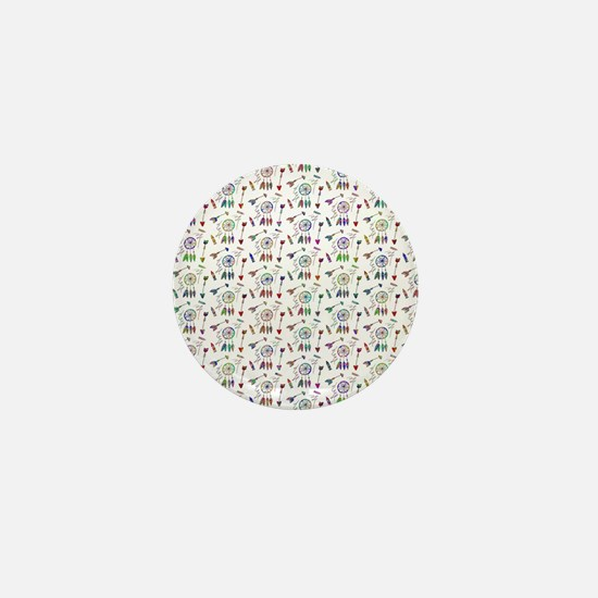 Colorful Native pattern Mini Button