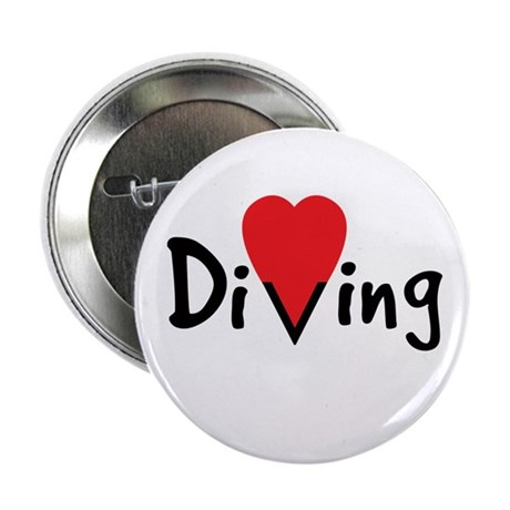 "Diving Love 2.25"" Button"