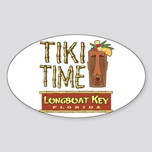 Longboat Key Tiki Time - Oval Sticker