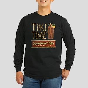 Longboat Key Tiki Time - Long Sleeve Dark T-Shirt
