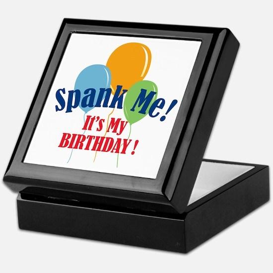 Spank Me Birthday Keepsake Box