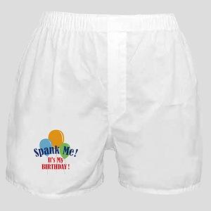 Spank Me Birthday Boxer Shorts