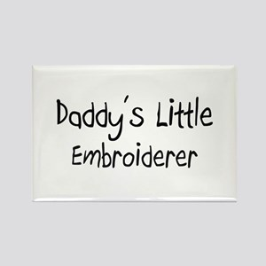 Daddy's Little Embroiderer Rectangle Magnet
