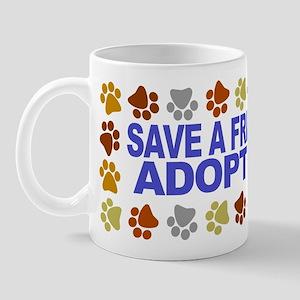 Save life, dog. Mug