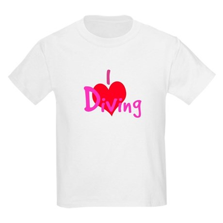I Love Diving Kids Light T-Shirt