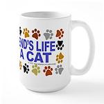 Save life, cat. Large Mug