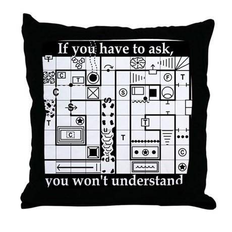 Dungeon Crawl Throw Pillow