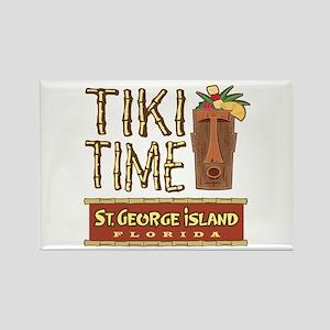St. George Tiki Time - Rectangle Magnet