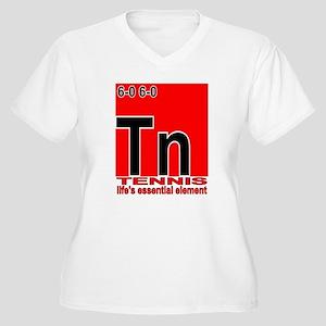 Tennis Element Women's Plus Size V-Neck T-Shirt