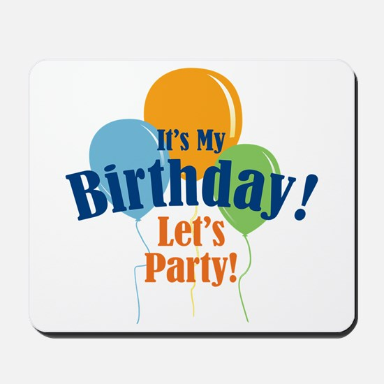 Birthday Party Balloons Mousepad