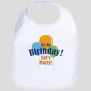 Birthday Party Balloons Bib